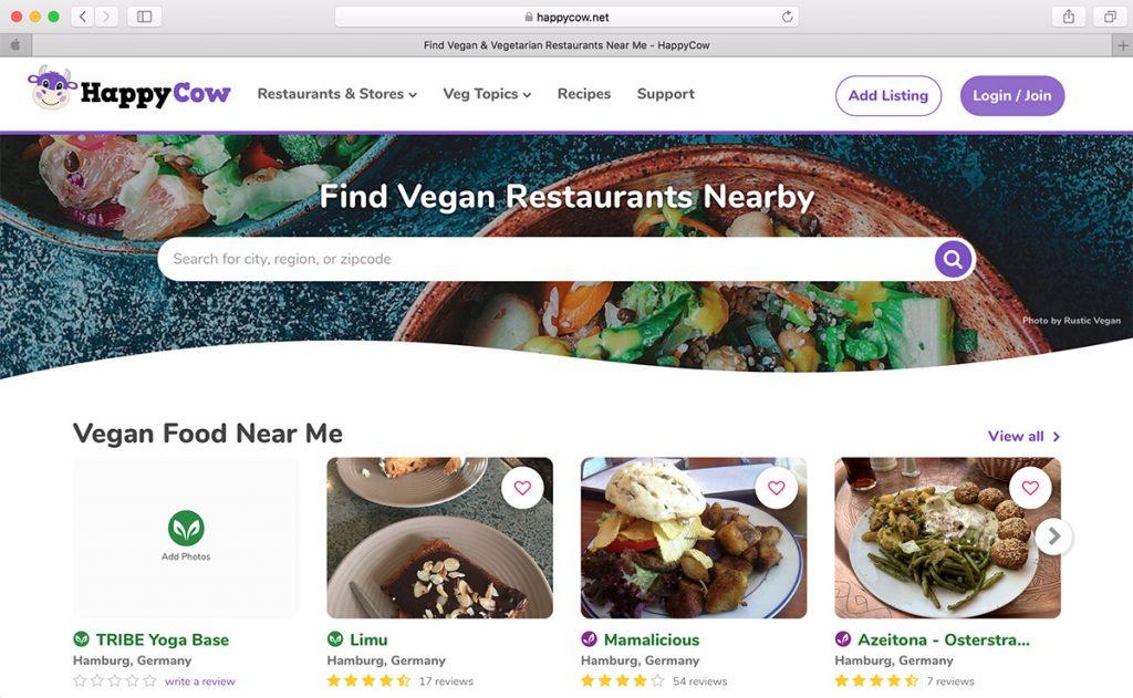 HappyCow Veganes Restaurant