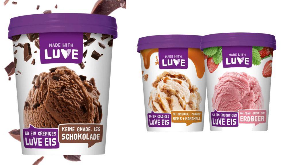 Veganes Eis auf Lupinenbasis von Made with Luve