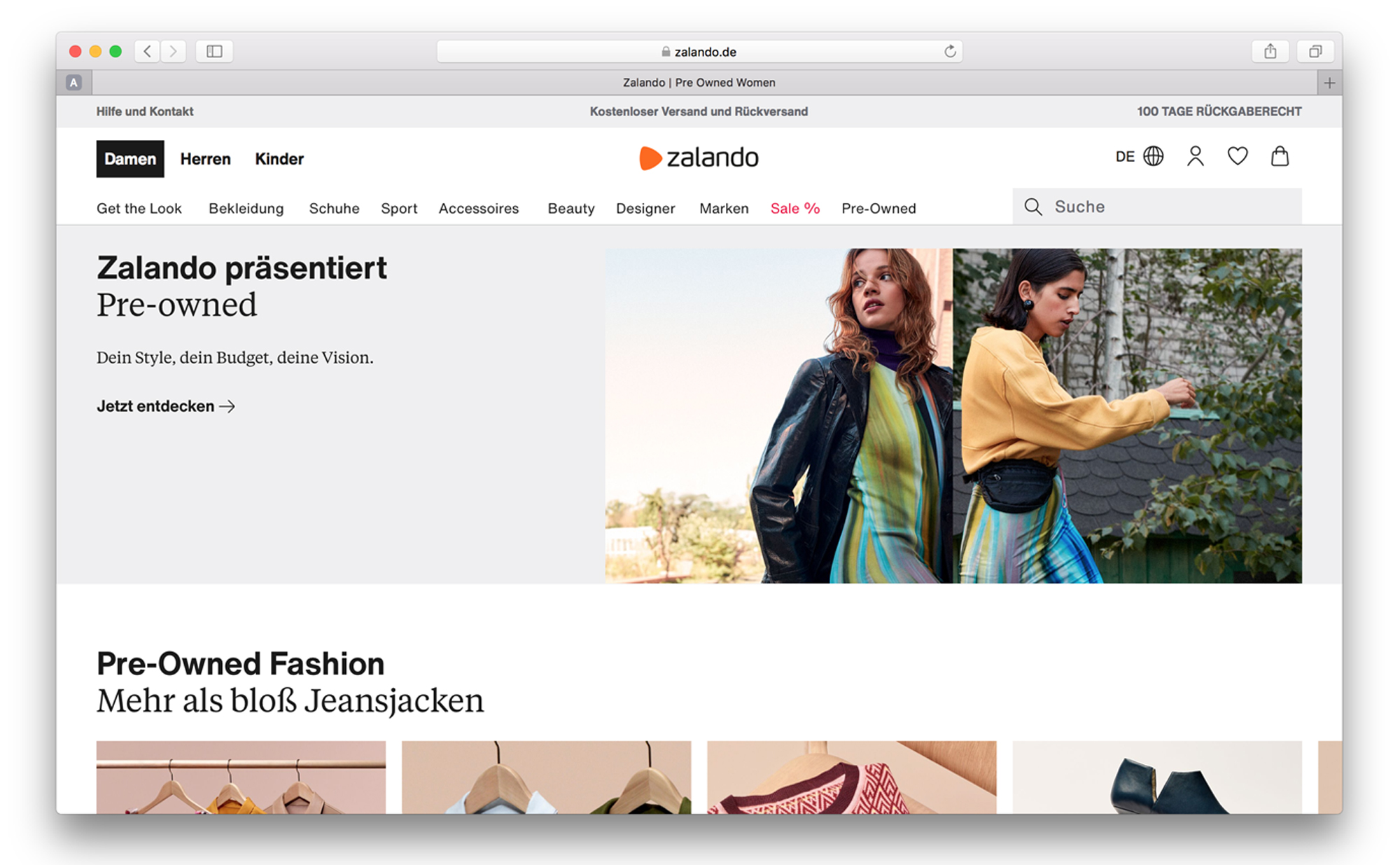 Zalando Pre Owned Seconhand Mode