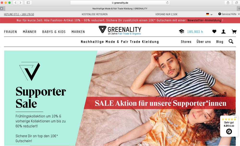 Greenality Onlineshop